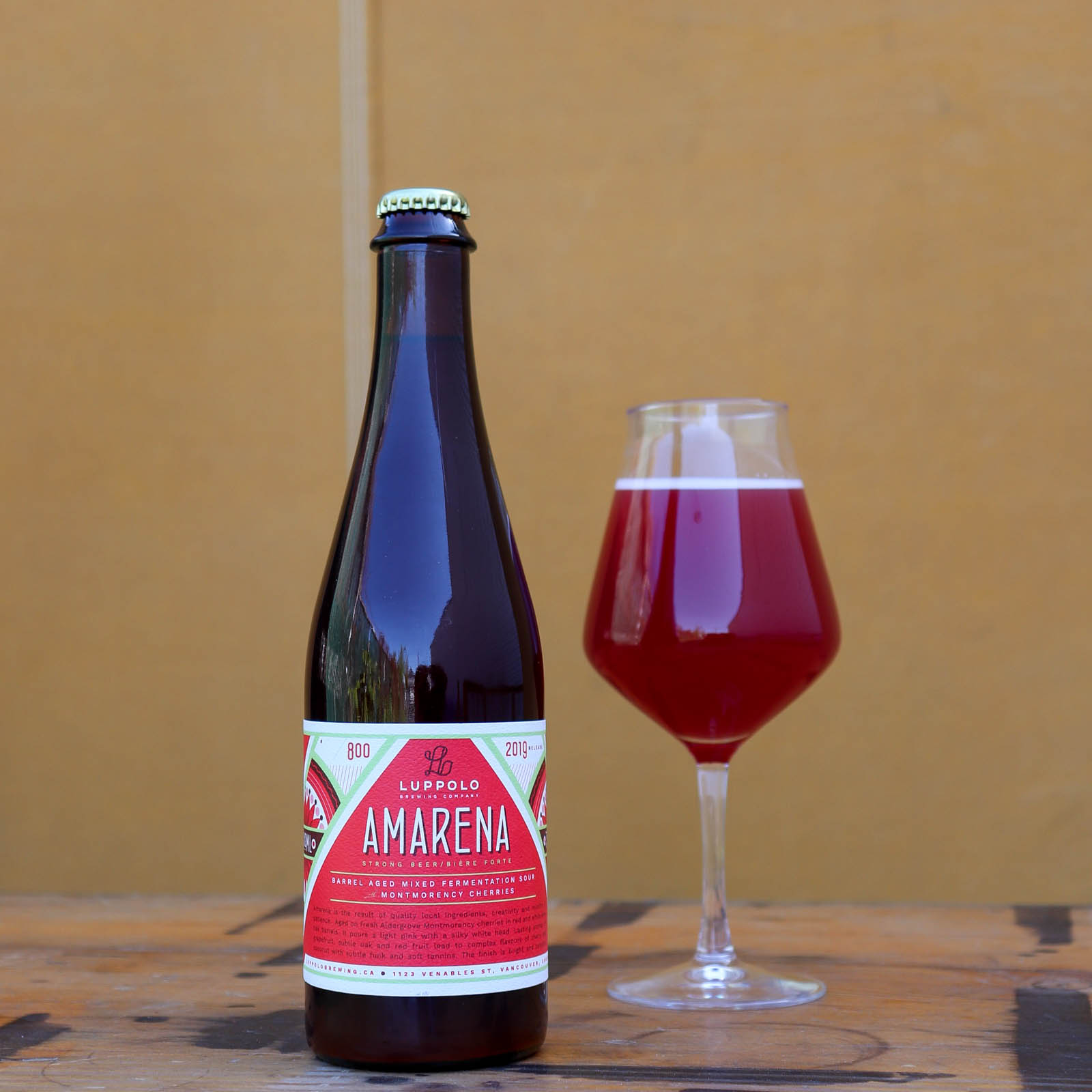 Amarena Barrel Aged Mixed Fermentation Sour with Cherries